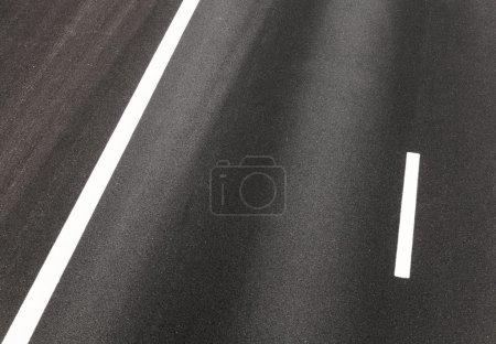 Empty road view