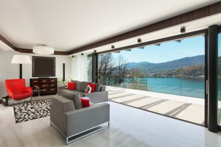 Interiors, modern living room
