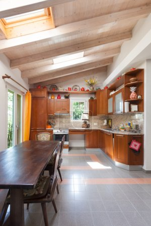 country house, kitchen