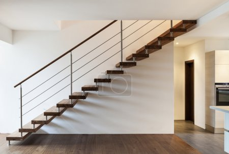 Photo for Beautiful modern loft, staircase view - Royalty Free Image