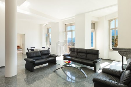 Photo for Architecture, classic apartment furnished, comfortable living room - Royalty Free Image
