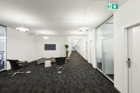hall in modern building