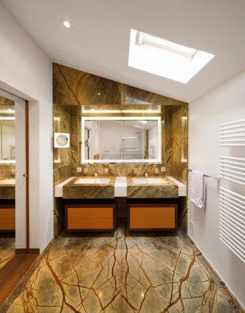 Interior design, luxury bathroom