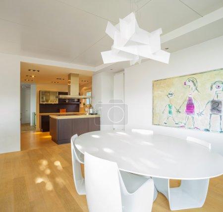 Photo pour Salon moderne avec sol en bois - image libre de droit