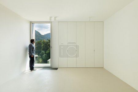 room with a man inside