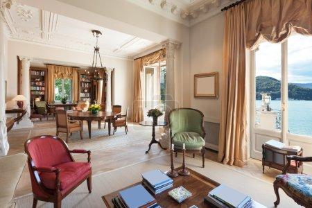 Interior, luxury living room