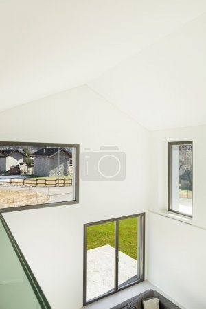 Photo for Architecture, interior of a modern house, living, top view - Royalty Free Image