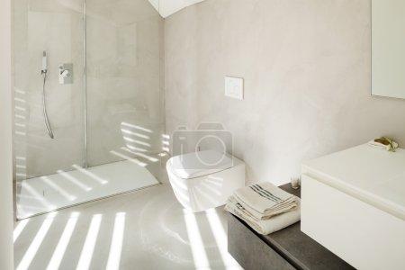 interior of a modern house, bathroom
