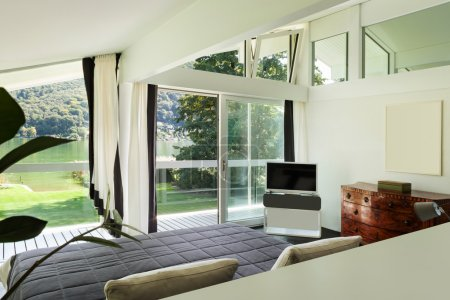 Interior, comfortable bedroom