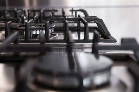 detail of gas stoves