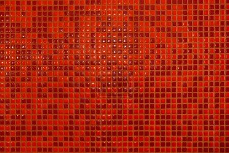 Photo pour Fond, mosaïque de tuiles rouges - image libre de droit