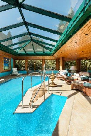 wide indoor pool