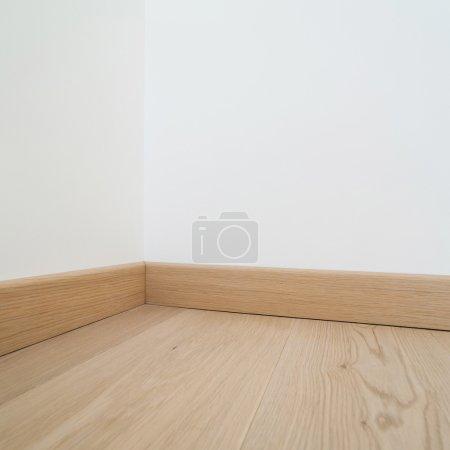 Interiors, parquet floor