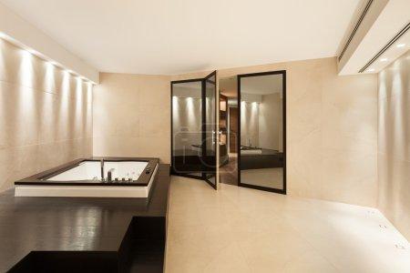 Interiors, bathroom with jacuzzi