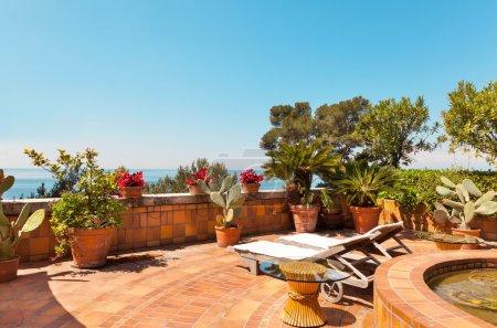 Beautiful terrace sea view