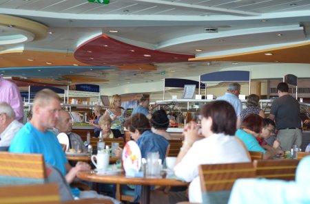 Passenges eating on Cruise ship