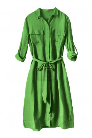 Green dress isolated