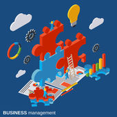 Business management innovation solution search vector concept