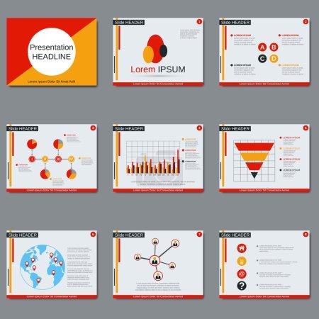 Business presentation vector design template