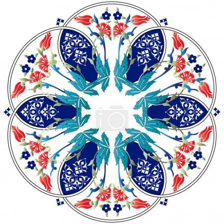 Ottoman motifs design series ninety one colored