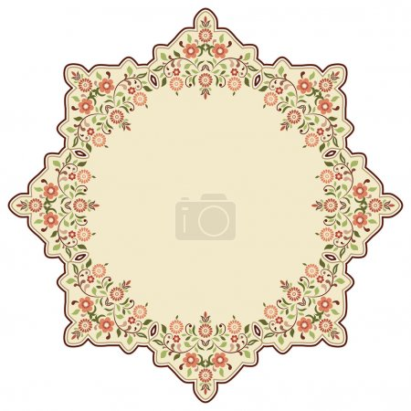 circular islamic background three