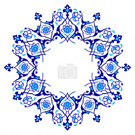 Blue artistic ottoman pattern series fifty nine