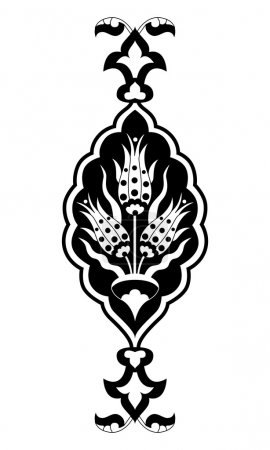 black flowers in the Ottoman art