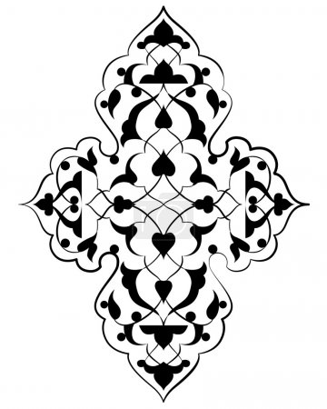 artistic ottoman pattern series seventy three