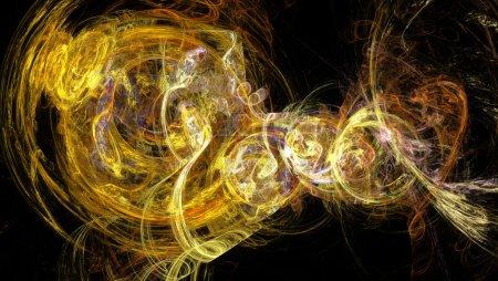 Photo pour Motifs colorés sur fond blanc. Illustration abstraite Format 16-9 pour moniteurs grand écran. Fractal Fond d'écran sur votre bureau . - image libre de droit