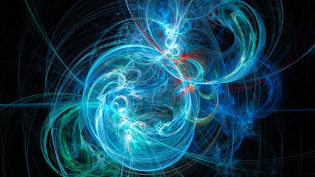 Photo for Ball of yarn. Sparks. Abstract image. Fractal Wallpaper on your desktop. Digital artwork for creative graphic design. Format 16:9 widescreen monitors. - Royalty Free Image