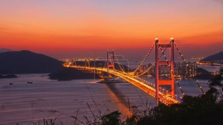 Tsing Ma bridge in Hongkong