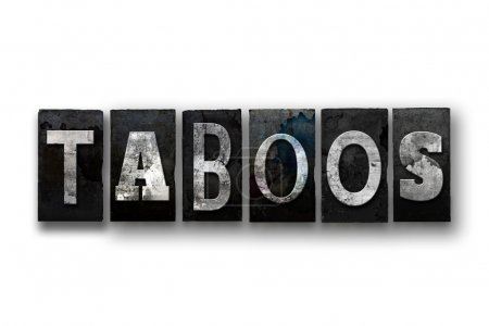 Taboos Concept Isolated Letterpress Type