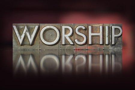 Photo pour Le mot culte écrit en caractères typographiques vintage - image libre de droit