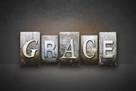 Photo for The word GRACE written in vintage letterpress type - Royalty Free Image