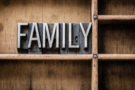 Family Letterpress Type in Drawer