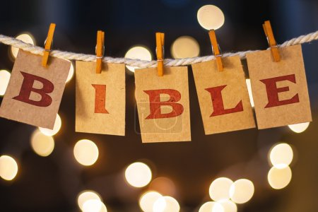 Bible Concept Clipped Cards and Lights