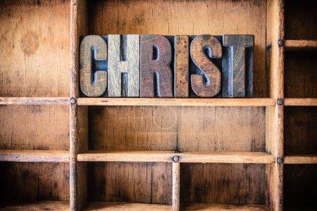 Christ Concept Wooden Letterpress Theme