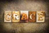 Knihtisk koncept Grace kůže téma