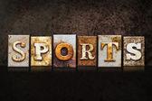 Sportovní knihtisk koncepce na tmavém pozadí