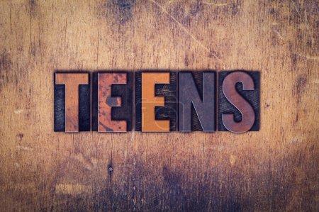 Teens Concept Wooden Letterpress Type