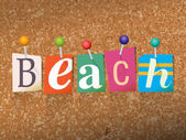 Beach Concept Pinned Letters Illustration