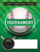 A baseball tournament flyer illustration Room for copy space Vector EPS 10 available EPS file contains transparencies File is layered Fonts have been converted to outlines
