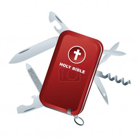 Swiss Army Knife Bible Illustration