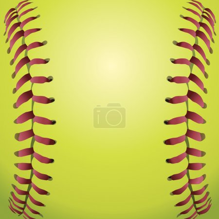 Softball Laces Closeup Background Illustration