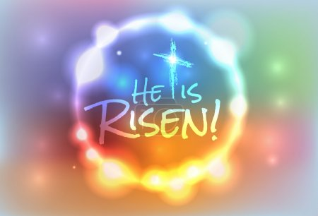 Christian Easter Risen Illustration