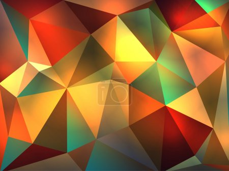Abstract Geometric Glowing Triangles Illustration