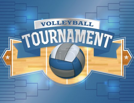 Volleyball Tournament Design Poster Illustration