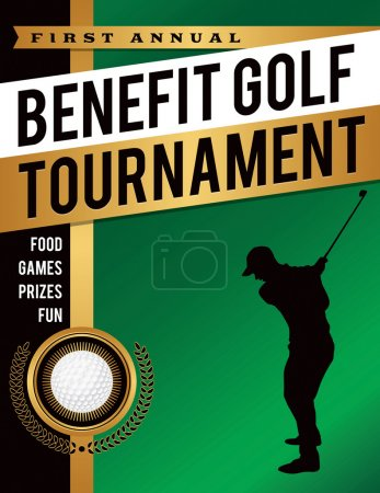 Benefit Golf Tournament Illustration