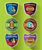 Fantasy Football Emblems and Badges Set