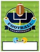 A flat design American Football championship flyer invitation or poster Room for copy Vector EPS 10 available